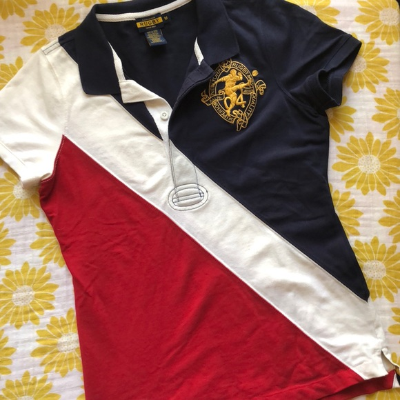 7f541238ab Rugby Ralph Lauren Tops | Red White Blue Ralph Lauren Rugby Pique ...